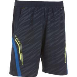 860 兒童羽球運動短褲- 海軍藍/綠色