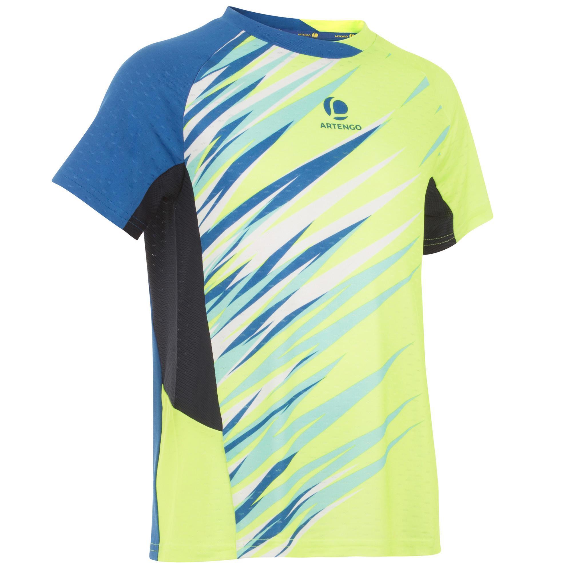 Artengo Badminton shirt 860 Dry voor kinderen geel