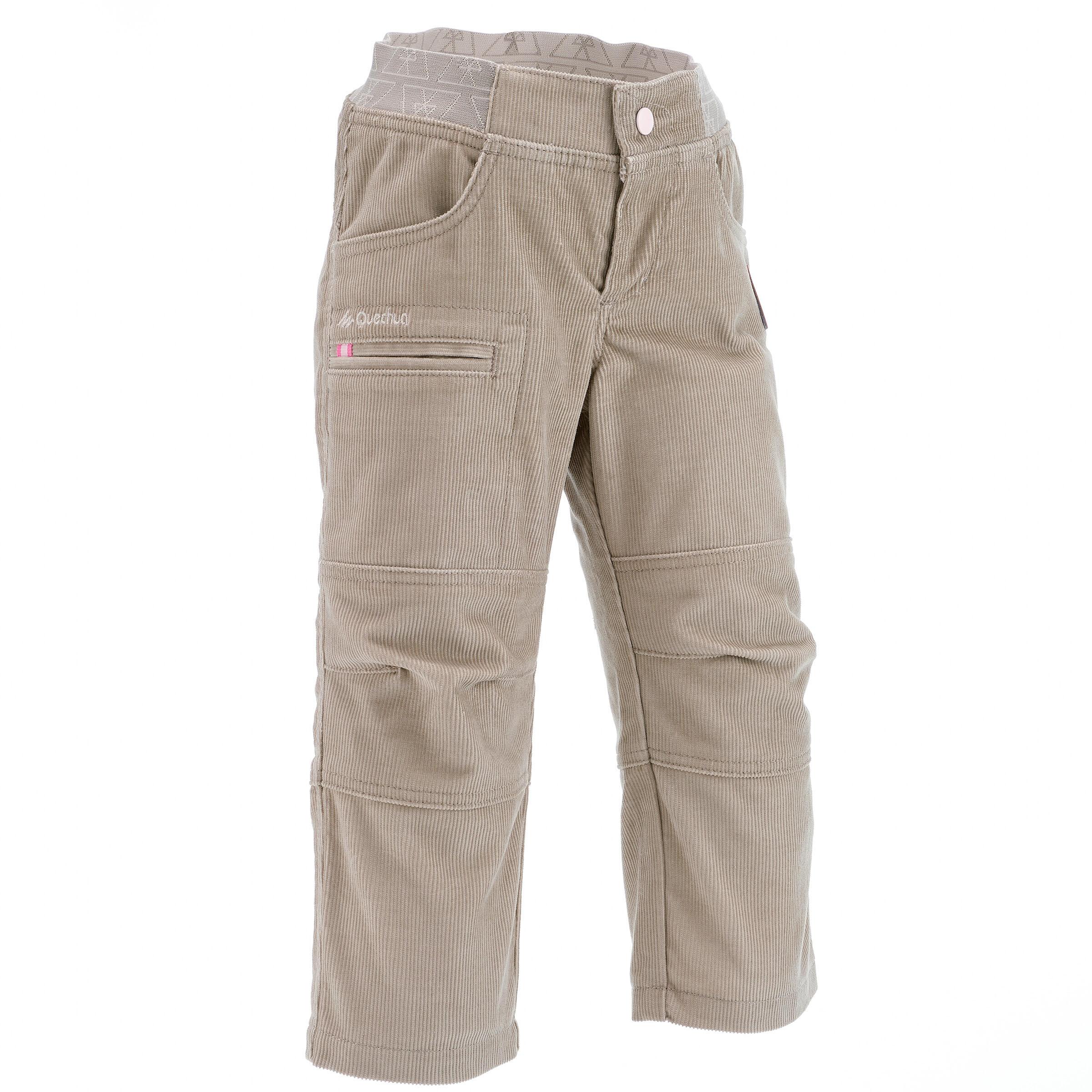 SH100 Warm Child's Snow Hiking Pants - Beige