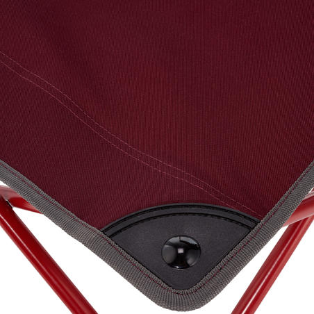 PORTABLE CAMPING CHAIR MH100 - MAROON