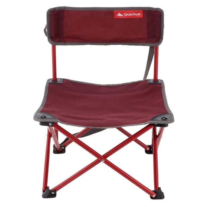 CHAISE BASSE CAMPING ITINÉRANT MH100 BORDEAU