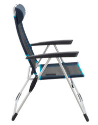 COMFORTABLE RECLINING CHAIR FOR CAMPING - BLUE