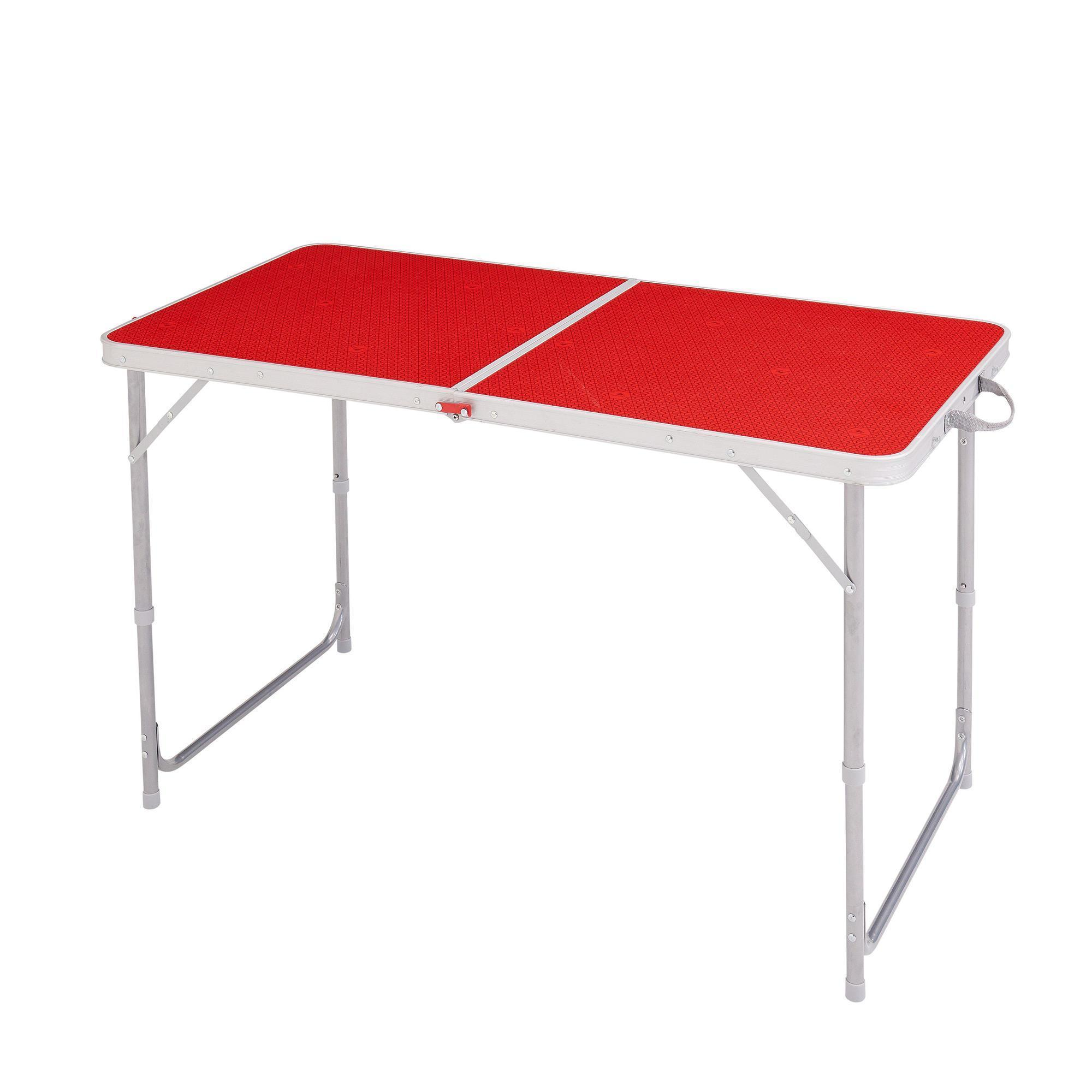 Camping table hiker s camp 4 or 6 people red