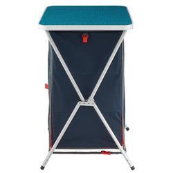 Compact opbergmeubel voor de camping