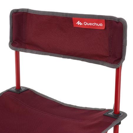 Chaise basse de camping itinérant MH100 bordeau