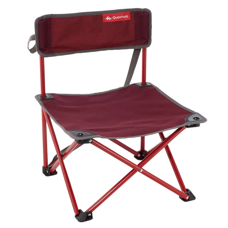 TOURING CAMP FURNITURE Camping - CAMPING CHAIR MH100 - MAROON QUECHUA - Camping Furniture and Equipment