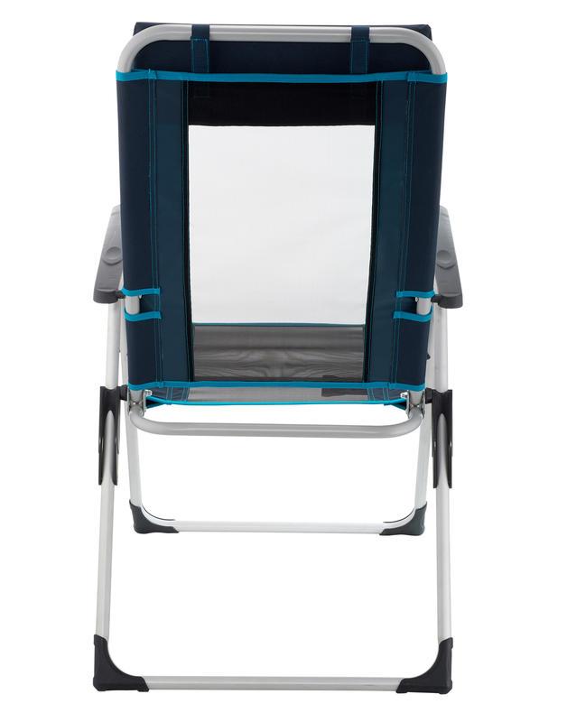 เก้าอี้สำหรับการตั้งแคมป์แบบปรับเอนได้ (สีฟ้า)