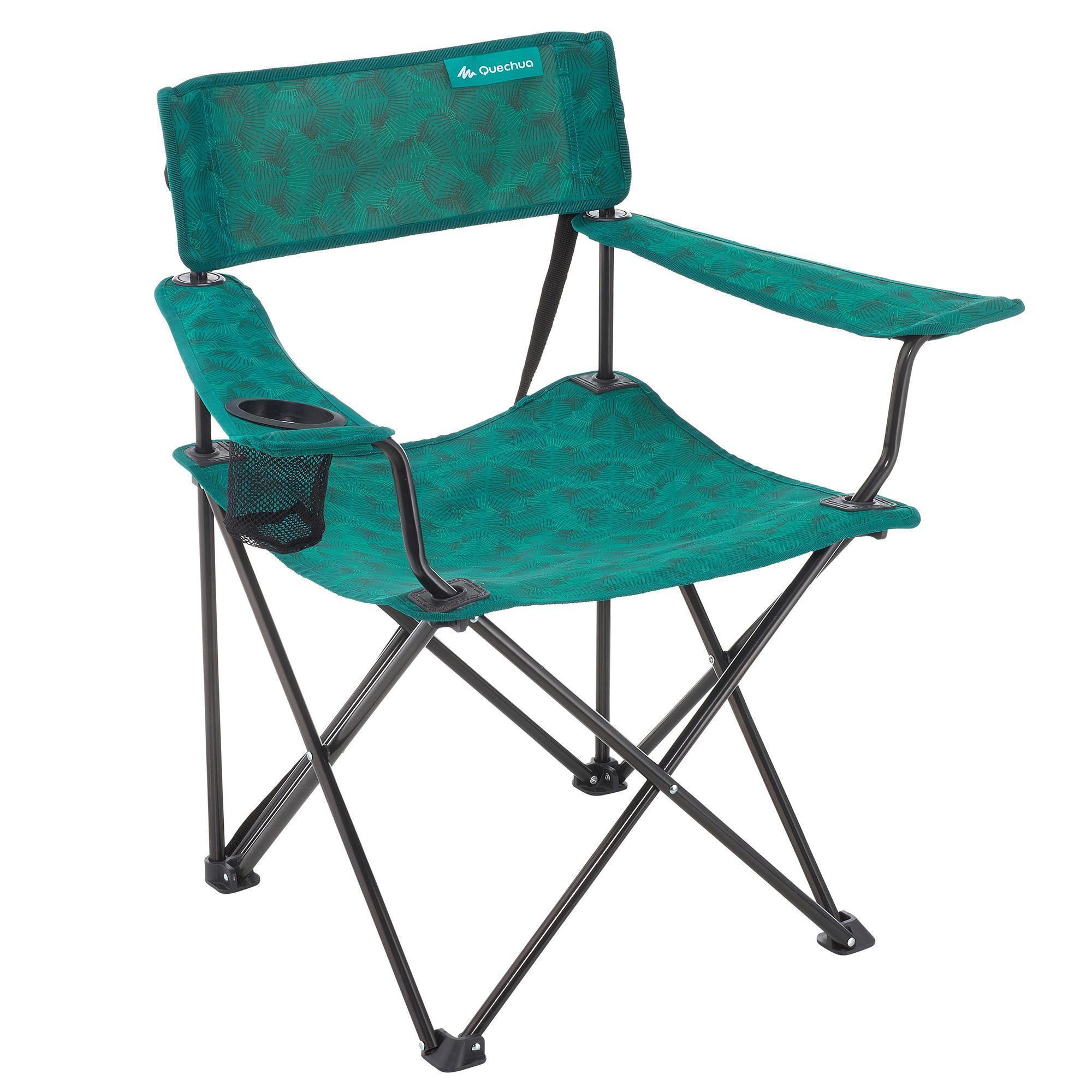 folding camping hiking armchair green quechua. Black Bedroom Furniture Sets. Home Design Ideas