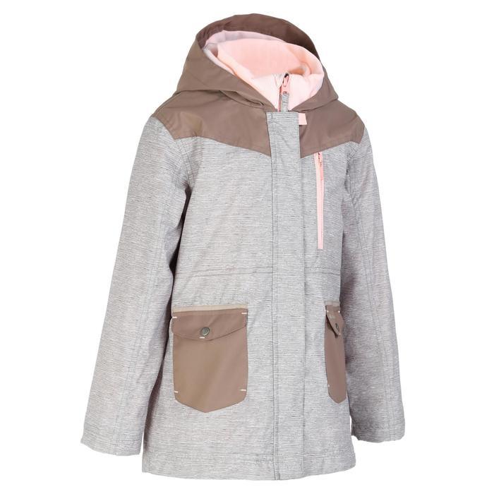 Girls' 2-6 years Snow Hiking Warm 3-in1 Jacket SH100 - Beige