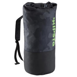 Rugzak voor teamsport trainingsmateriaal 45 liter zwart/geel