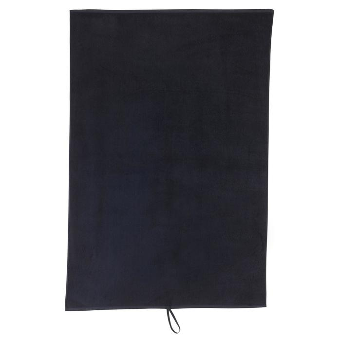Serviette grande fitness coton noir