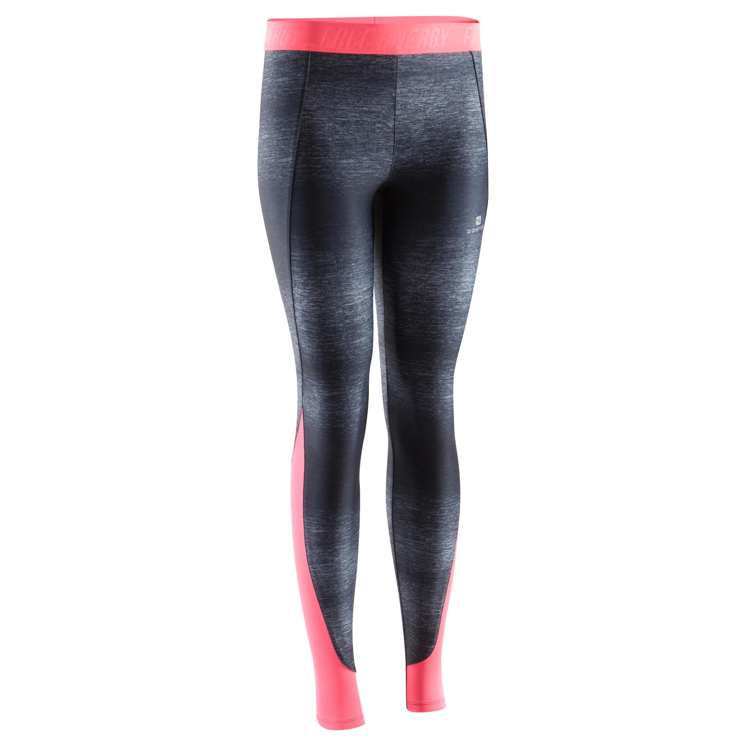 Energy+ Women's Breathable Cardio Fitness Leggings - Mottled Black