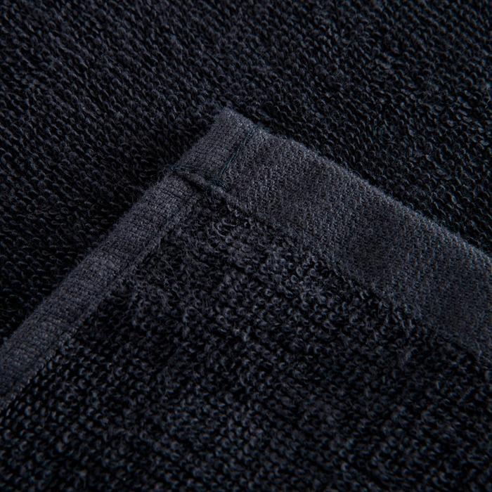 Grote katoenen handdoek fitness zwart