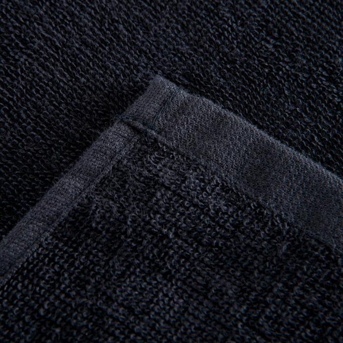 Handtuch groß Fitness Baumwolle schwarz