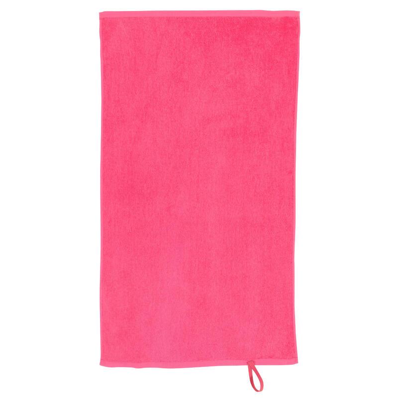Serviette petite entraînement coton rose