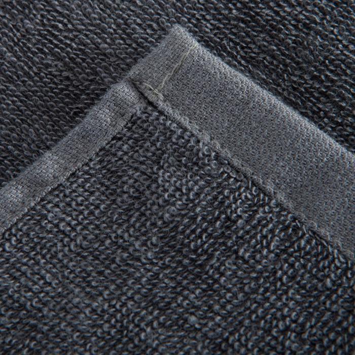 Grote katoenen handdoek fitness grijs