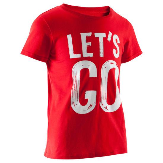 T-shirt met korte mouwen en print gym jongens - 1066916
