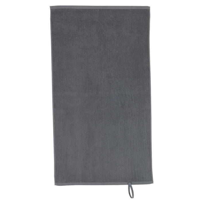 Fitness-Handtuch klein Baumwolle grau