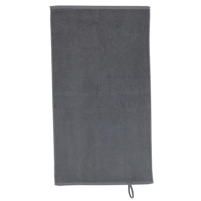 Kleine katoenen handdoek fitness grijs