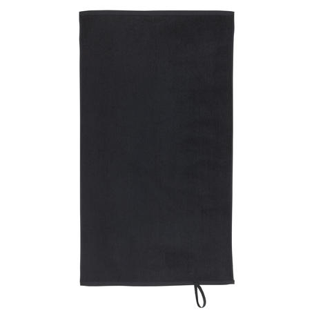 Small Cotton Fitness Towel - Black