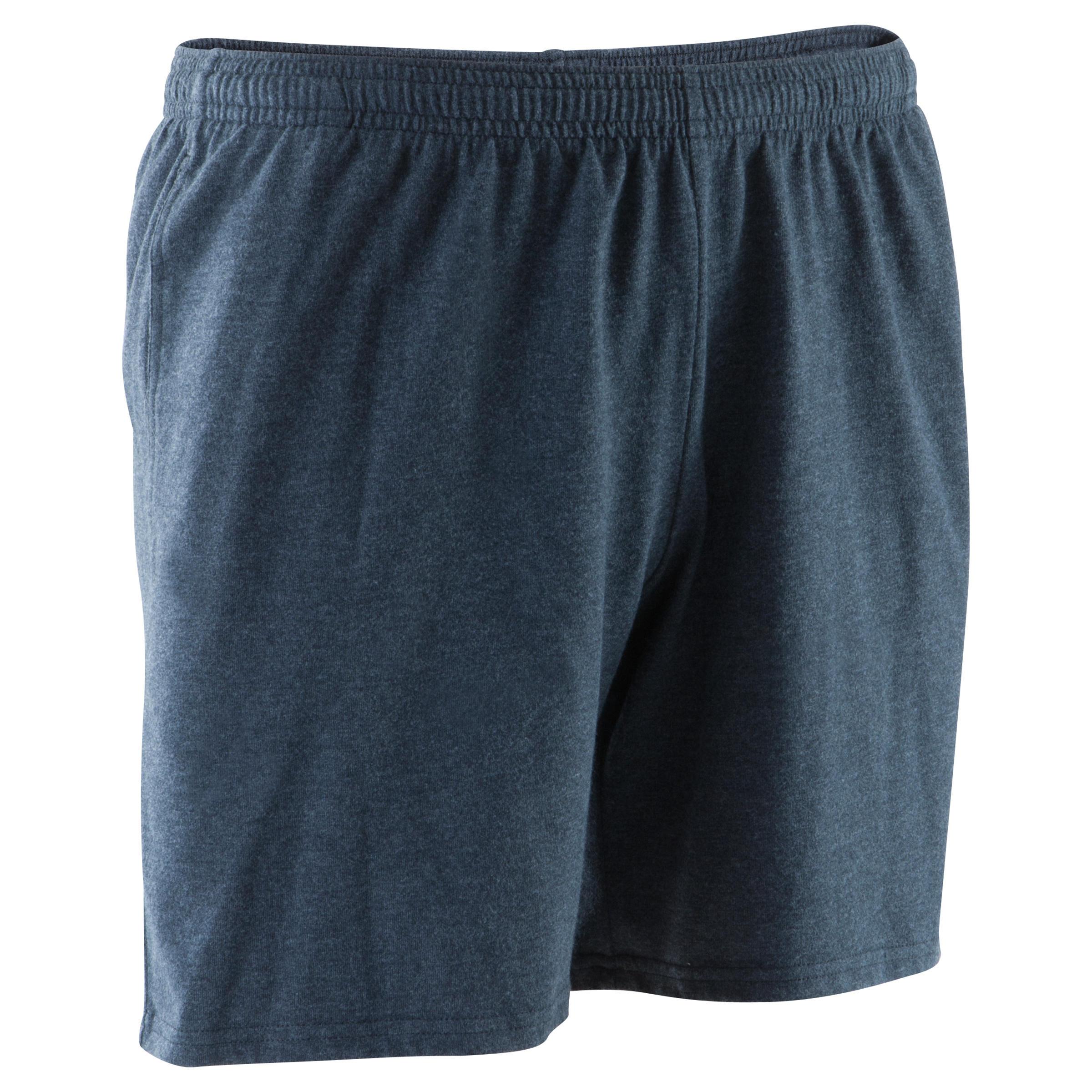 Short por medio muslo de gimnasia y pilates para hombre gris oscuro