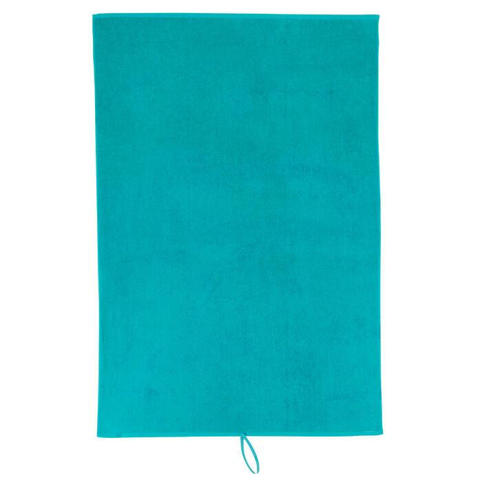 Toalla grande de algodón fitness Azul