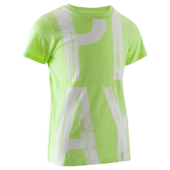 T-shirt met korte mouwen en print gym jongens - 1066934