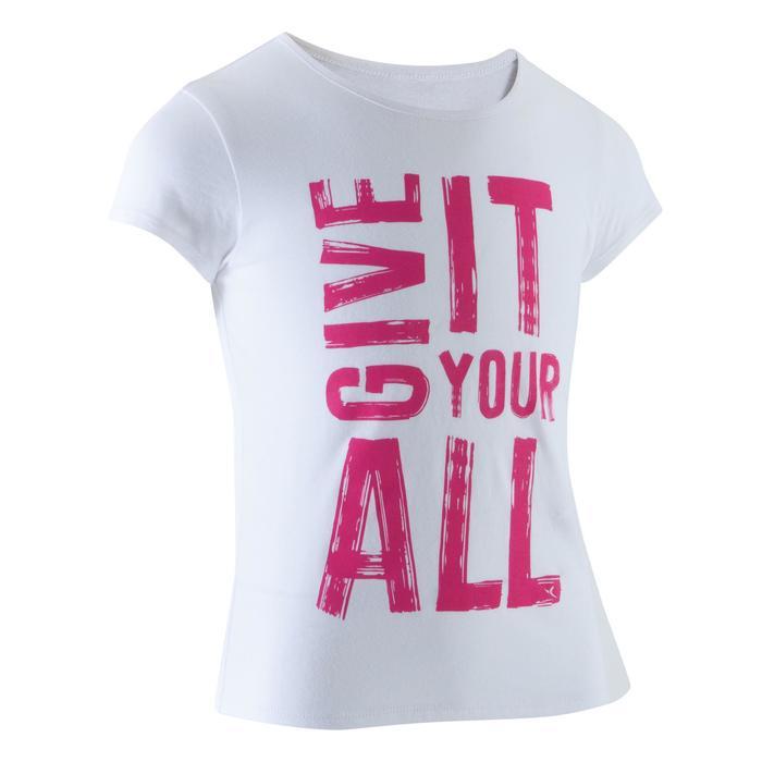 T-Shirt manches courtes 100 Gym fille imprimé - 1066941