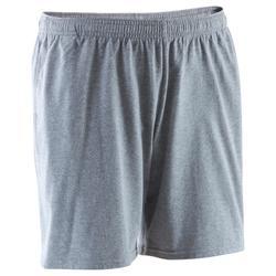 Short 100 mi-cuisse regular Gym Stretching homme gris clair