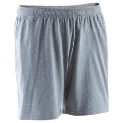 Short 100 mi-cuisse regular Gym Stretching homme gris clair