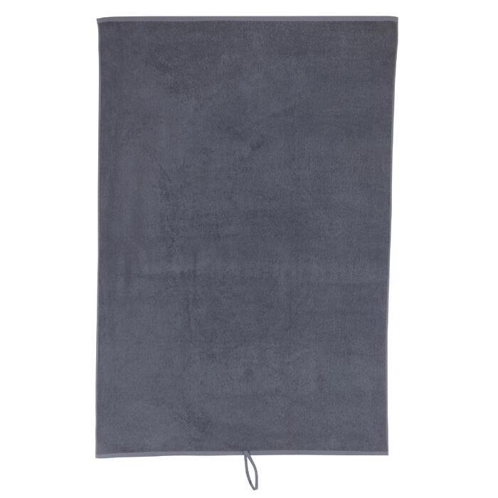 Serviette grande fitness coton gris