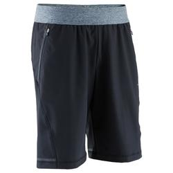 Woven Yoga Shorts - Heathered Grey