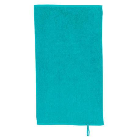 Serviette petite entraînement coton bleu