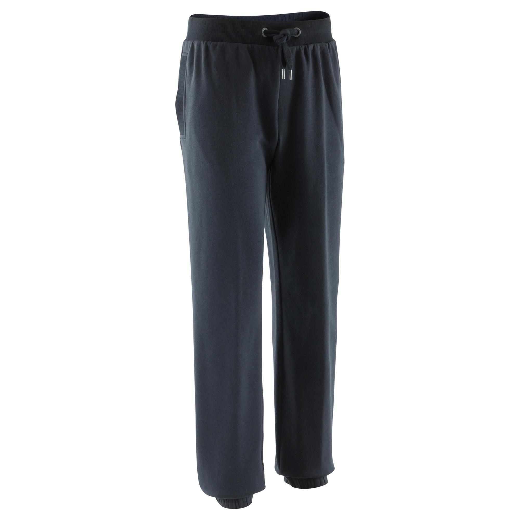 pantalon 920 regular gym pilates homme noir domyos by. Black Bedroom Furniture Sets. Home Design Ideas