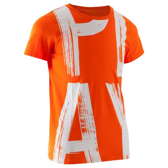 T-shirt met korte mouwen en print gym jongens - 1066959