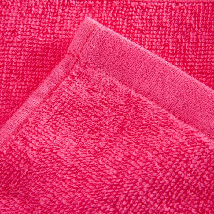Grote katoenen handdoek voor de fitness roze