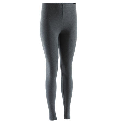 100 Salto Women's Slim-Fit Stretching Leggings - Dark Grey