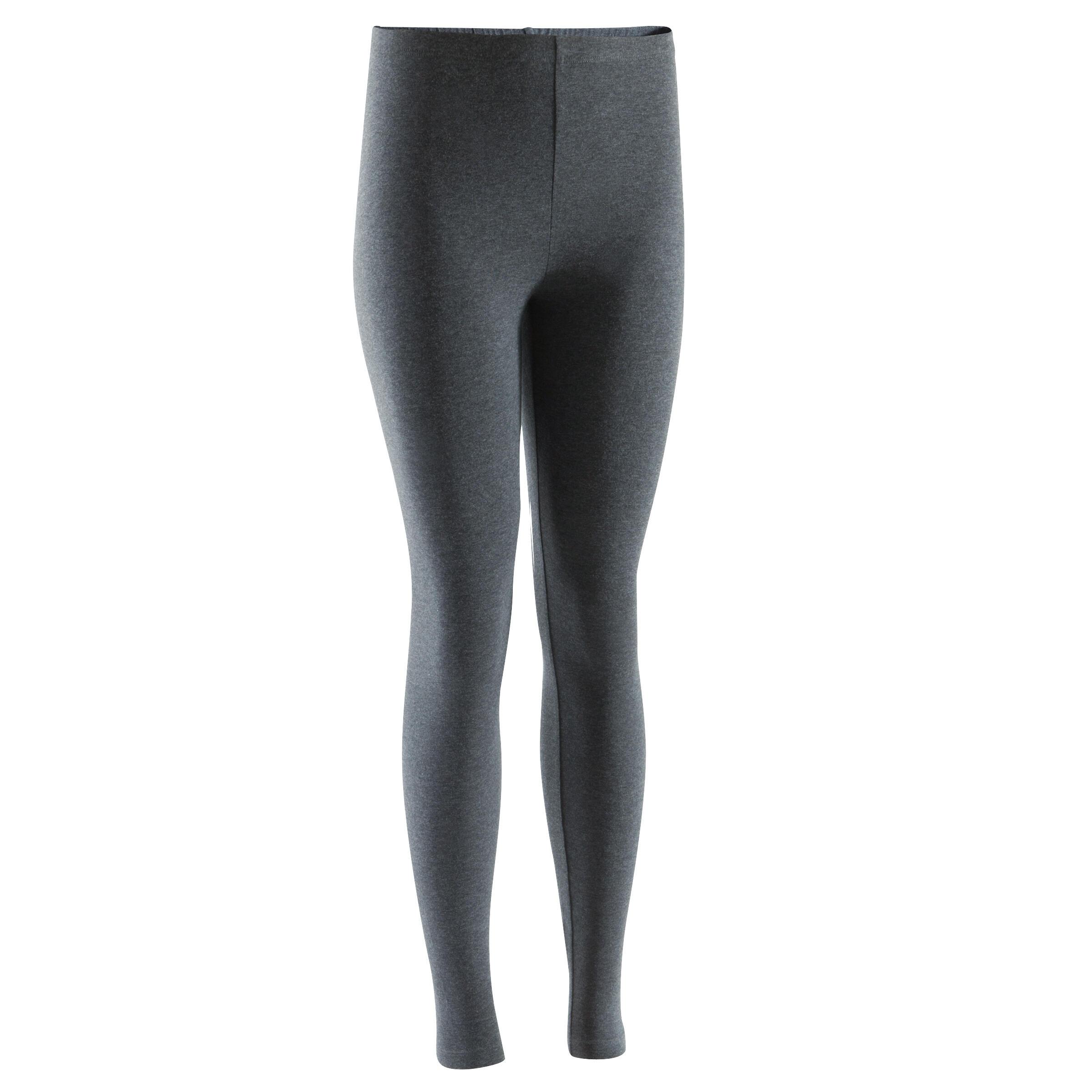 Leggings 100 slim gimnasia y pilates mujer gris oscuro Salto