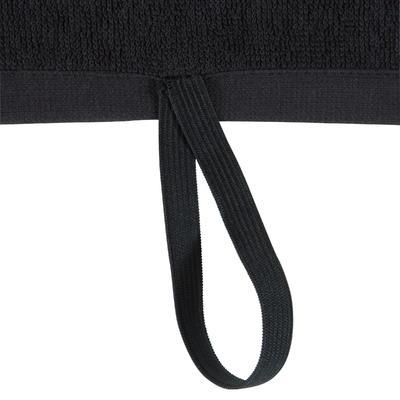 Serviette petite fitness coton noir