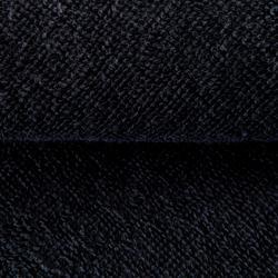 Toalla grande de algodón fitness Negro