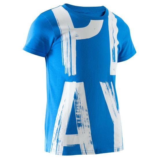 T-shirt met korte mouwen en print gym jongens - 1066978