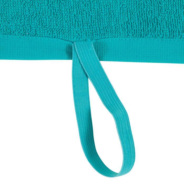 Toalla pequeña de algodón fitness Azul