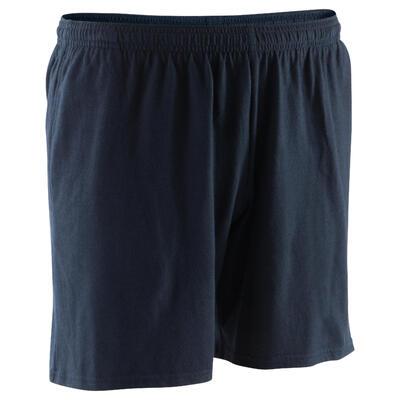 100 Mid-Thigh Gym Stretching Shorts - Black