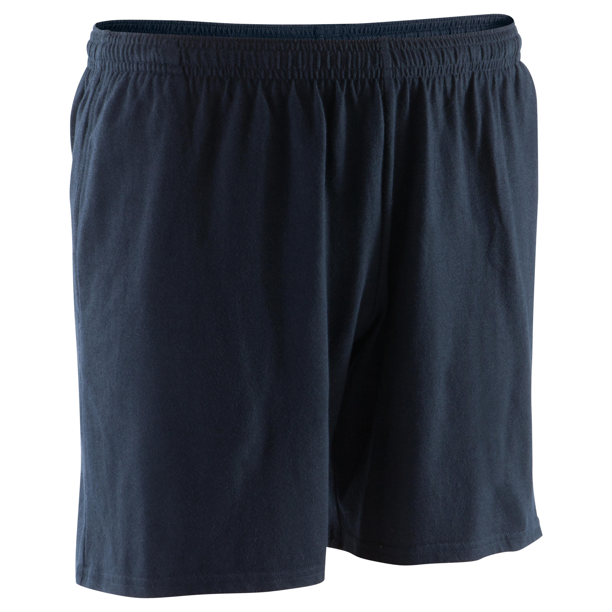 100 Mid-Thigh Gym Stretching Shorts - Black