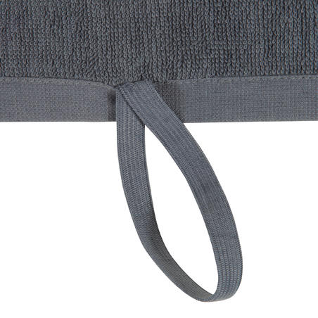 Large Cotton Fitness Towel - Grey