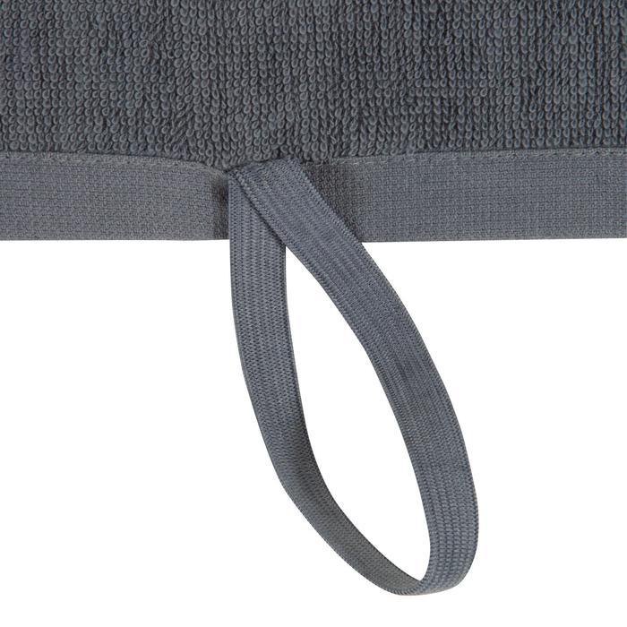 Toalla grande de algodón fitness Gris