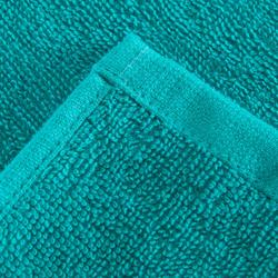 Grote katoenen handdoek fitness blauw