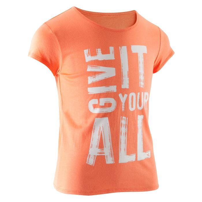 T-Shirt manches courtes 100 Gym fille imprimé - 1067009