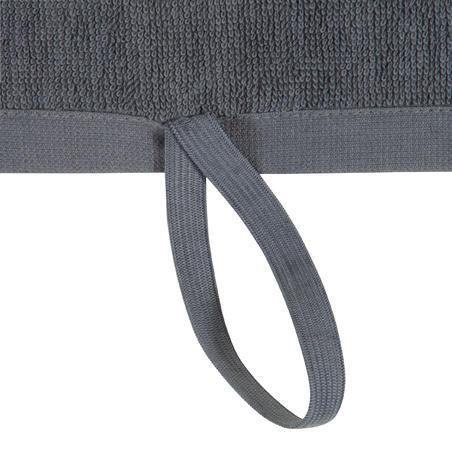 Serviette petite entraînement coton gris