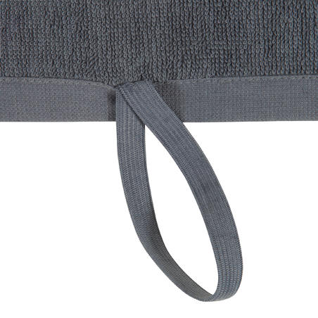 Small Cotton Fitness Towel - Grey